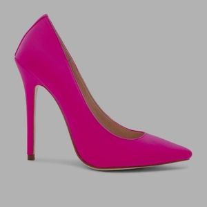 Neon pink Raye heels